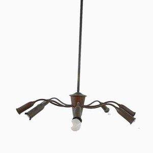 Mid-Century Brass Spider Multi Arm Kronleuchter