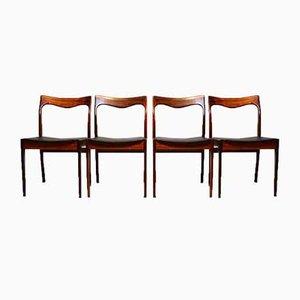 Palisander Esszimmerstühle von AWA Meubelfabriek, 1960er Jahre, 4er Set