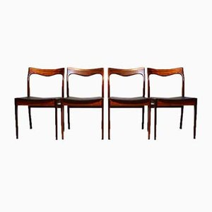 Rosewood Dining Chairs from AWA Meubelfabriek , 1960s, Set of 4