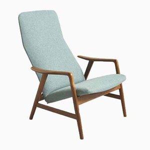 Chaise Inclinable Contour par Alf Svensson pour Fritz Hansen, Danemark, 1950s