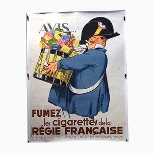 Rauchzigaretten des Französischen Vorstands Poster, 1935