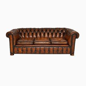 Chesterfield Sofa aus tief geknöpftem Leder im viktorianischen Stil, 1950er Jahre