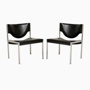 Danish Steel Lounge Chairs, 1960er Jahre, 2er-Set