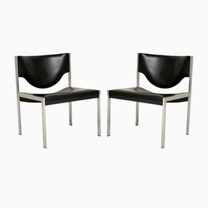Danish Steel Lounge Chairs, 1960s, Set of 2