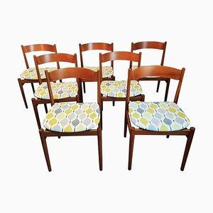 Chaises de Salon Modèle 101 en Teck par Gianfranco Frattini pour Cassina, Italie, 1960s, Set de 7