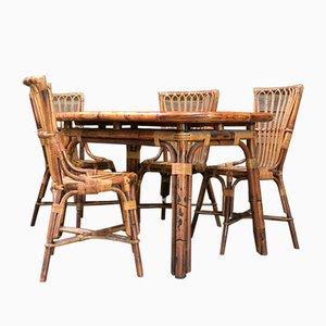 Esstisch & Stühle Set, 1950er, 5er Set