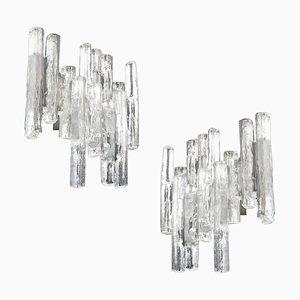 Große Murano Glas Wandleuchten von Kalmar Franken KG, 1960er, 2er Set
