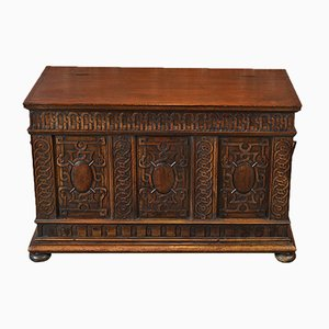 Antique French Walnut Coffer, 1800s