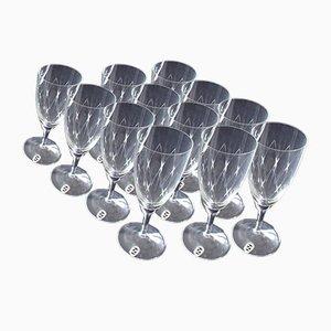 Flûtes à Champagne en Cristal de Schott Zwiesel, 1950s, Set de 12