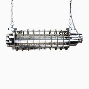 Lampada da soffitto vintage industriale in alluminio T8 con tubo di Aqua Signal, Germania