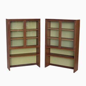 Teak and Glass Cabinets from G-Plan, 1970s, Set of 2
