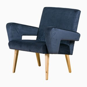Mid-Century Velvet Armchairs from Jitona, 1960s, Set of 2