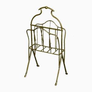 Porte-revues en laiton antique