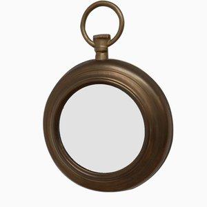 Mid-Century Brass French Pocket Watch Mirror, 1950s