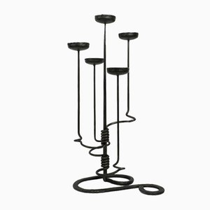 Floor Wrought Iron Candlestand, 1960s