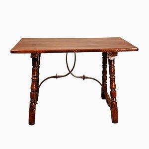 Antiker spanischer Walnuss-Schreibtisch