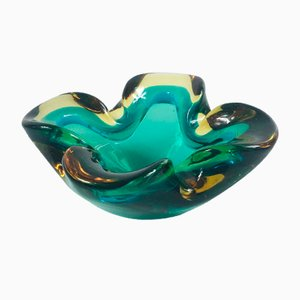 Mid-Century Murano Sommerso Glass Ashtray / Bowl, 1960s