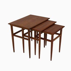Tavolini a incastro Mid-Century moderni, Danimarca, anni '60