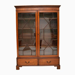 Antique Georgian Mahogany Astral Glaze Bookcase