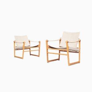 Dänische Safari Lounge Chairs von Bengt Ruda, 1960er Jahre, 2er-Set