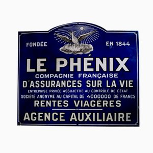 French Vintage Enameled Le Phenix Sign