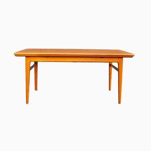 Scandinavian Teak Extendable Coffee Table, 1950s