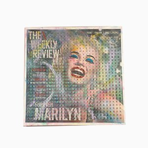 Dreifarbiger Marilyn Monroe Glitter Tisch mit Acrylfarbenem Glitzerbezug