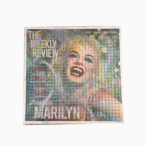 Mesa de tela de tres colores con brillo acrílico cuadrado Marilyn Monroe