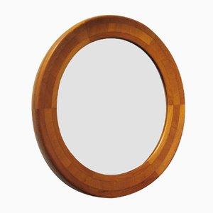 Scandinavian Round Teak Mirror, 1960s