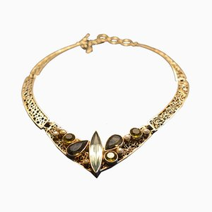 Collier 925 Artisanal Argenté avec Perles Obsidienne par Tipico pour Jutta Trenker