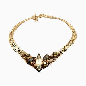 Collier en argent 925 fait à la main avec des perles d'obsidienne par Tipico pour Jutta Trenker