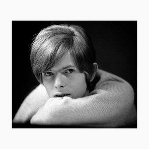 David Bowie encadré en blanc par Gerald Fearnley