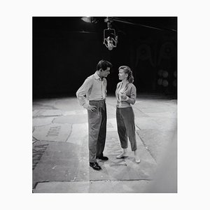 Eddie Fisher and Debbie Reynolds Archival Pigment Print Framed in White by Bettmann