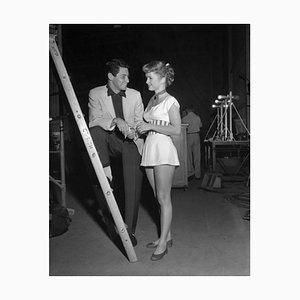 Eddie Fisher e Debbie Reynolds Archival Pigment Print incorniciato in bianco da Bettmann