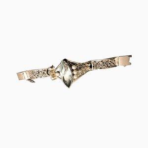 Silber 925 Bangle with Obsidian Beads von Tipico für Jutta Trenker