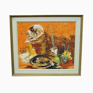 Einar Persson, pintura abstracta sueca, óleo sobre lienzo, años 60