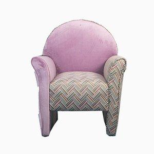 Velvet Armchairs, 1970s, Set of 2