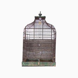 Antica gabbia per uccelli in ferro