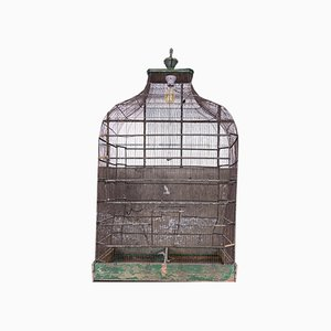 Antique Iron Bird Cage
