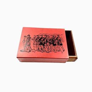 Red Mahogany Cigars Box, Italy, 1950s