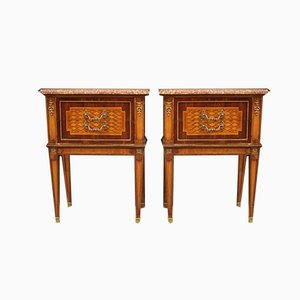 Rosewood Bedside Tables, 1960s, Set of 2