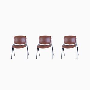 Chaises de Bureau, 1970s, Set de 3