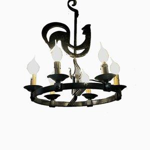 Lampe à Suspension par Jean-Pierre Ryckaert pour Le Dauphin, France, 1950