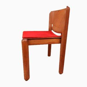 Mid-Century 122 Stühle von Vico Magistretti für Cassina, 4er-Set