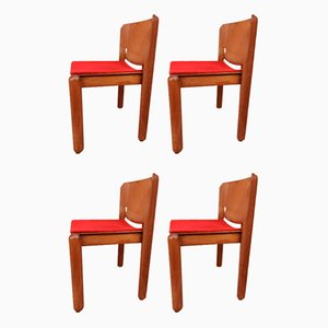 Mid-Century 122 Chairs by Vico Magistretti for Cassina, Set of 4