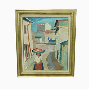 Bertil Johansson-bajo, Peinture moderne suédoise, huile sur panneau, 1950