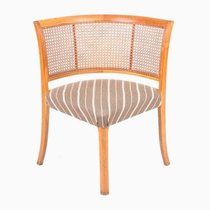 Danish Side Chair in Oak and Cane, 1940s