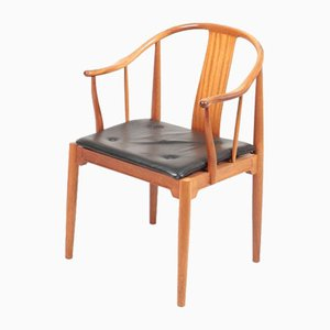 Mahogany China Chair by Hans J. Wegner for Fritz Hansen, 1960s