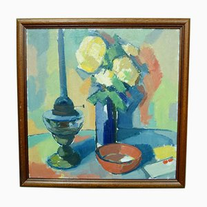 Oil Painting, Swedish Modern Still Life, 1970s