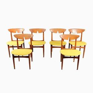 Mid-Century dänische Teak Esszimmerstühle 1960er Jahre, 6er Set